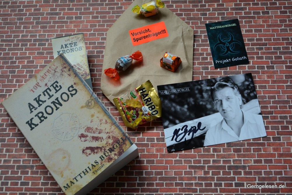"""""""Akte Kronos"""" mit Goodie-Bag"""
