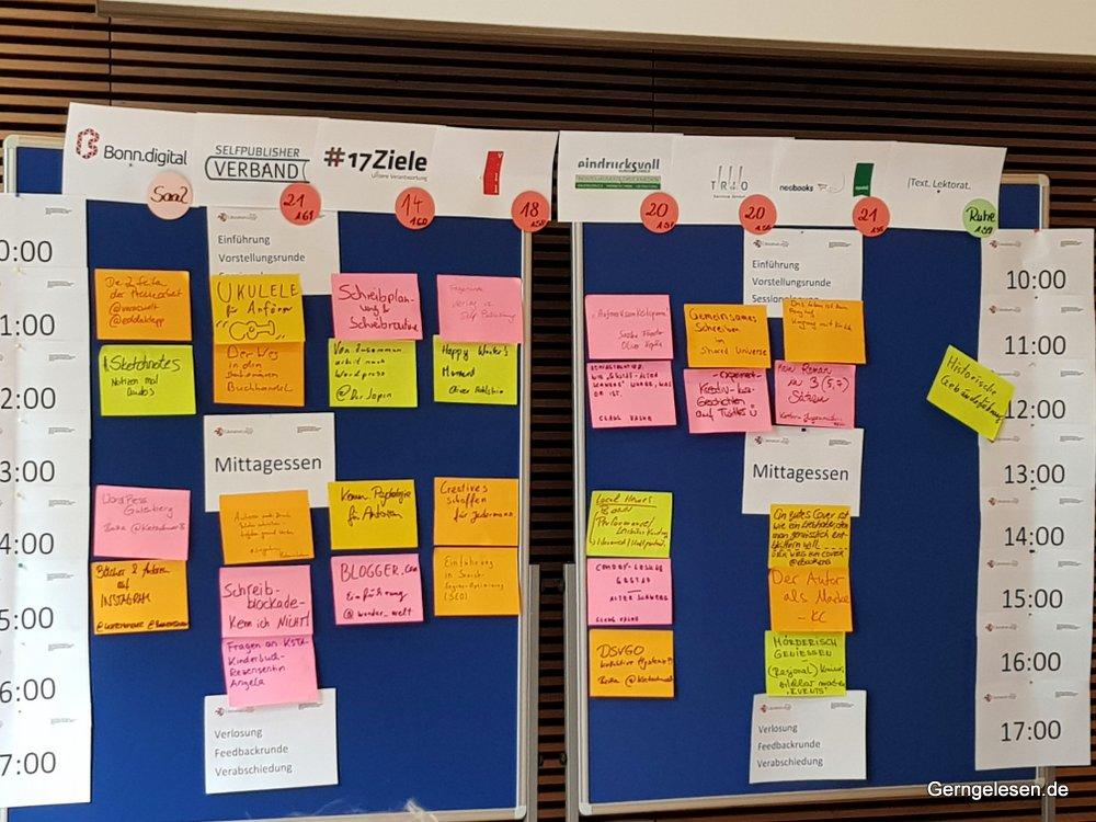Litcamp Bonn, Sessionplanung