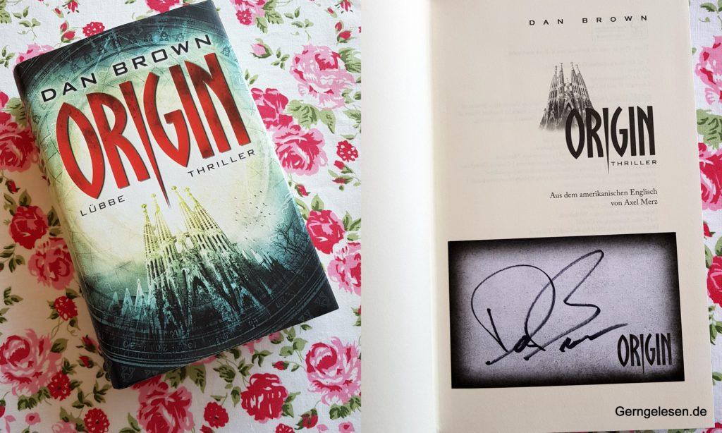 Dan Brown, Origin, Autogramm, Thriller, Robert Langdon