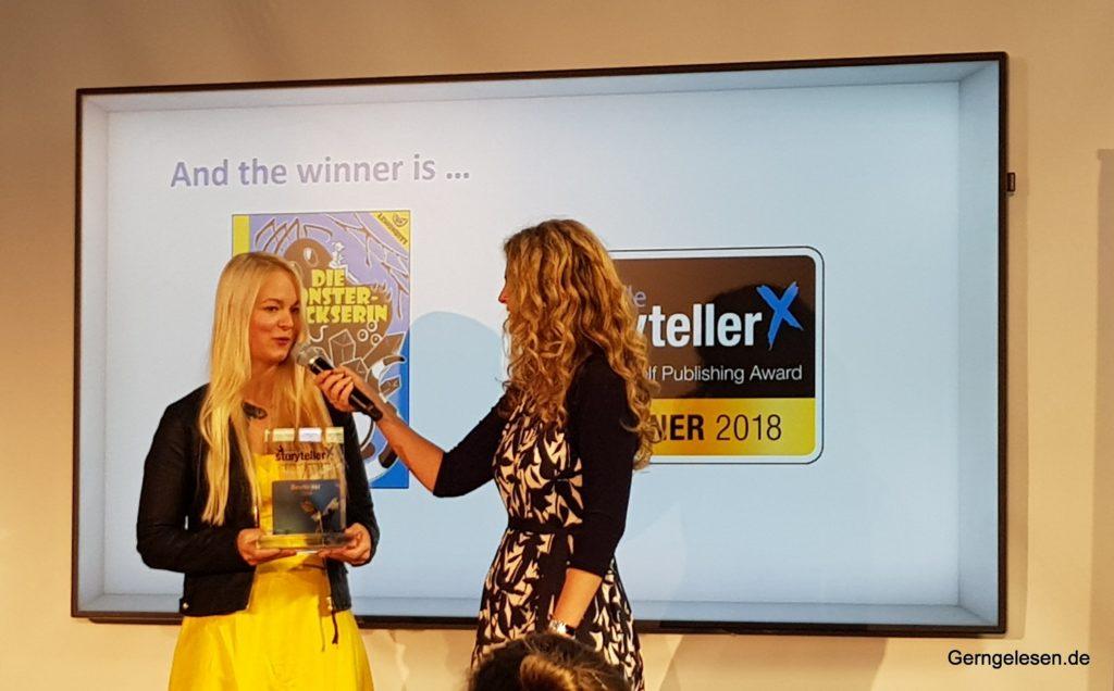 Corinna Rindlisbacher, Lemonbits, Monstertrickserin, Sieger Storyteller X, Frankfurt 2018